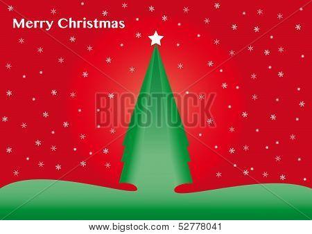 Christmas Tree. Postcard