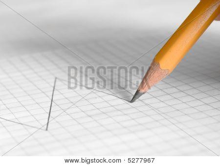 Pencil Drawing Financial Graph