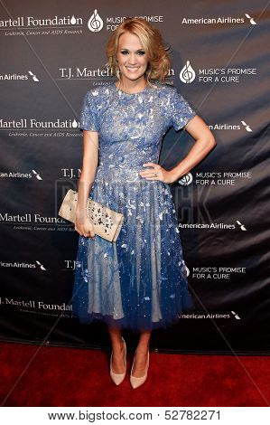 NEW YORK- OCT 22: Recording artist Carrie Underwood attends the T.J. Martell Foundation's 38th Annual Honors Gala at Cipriani's on October 22, 2013 in New York City.