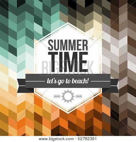 Seamless Geometric Pattern Summer Time