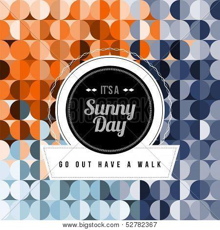 Seamless Geometric Pattern Sunny Day