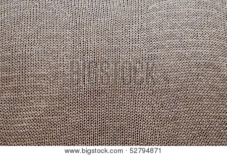 Detailed texture of knitted sweater
