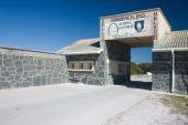 Entrance to Robben Island Prison where Nelson Mandela was held captive poster