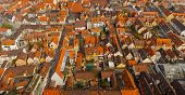 panoramic view from Ulm Munster church, Germany poster