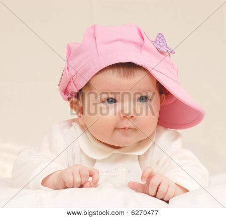 Babygirl In Rose Hat