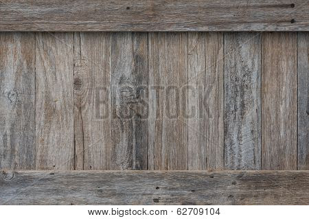 Rustic Wood Wall With Trim