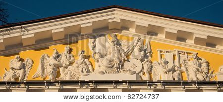pediment of the Admiralty
