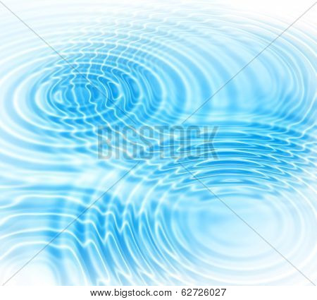 Abstract background with blue radial water ripples poster