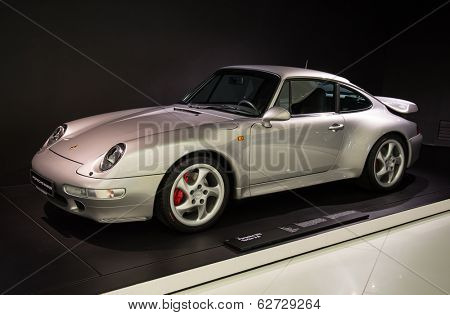 STUTTGART, GERMANY - CIRCA APRIL, 2014: Porsche Museum. PORSHE 911 Turbo 3.6 (1997)