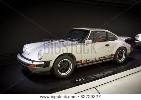 STUTTGART, GERMANY - CIRCA APRIL, 2014: Porsche Museum. PORSHE 911 Turbo nr.1 (1974)