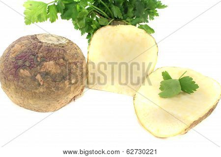 Two Turnip With Parsley