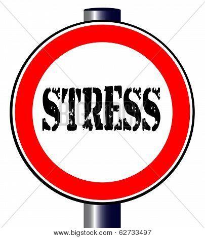 Stress Traffic Sign