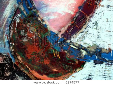 poster of A mixed media abstract contemporary painting for backgrounds and textures.
