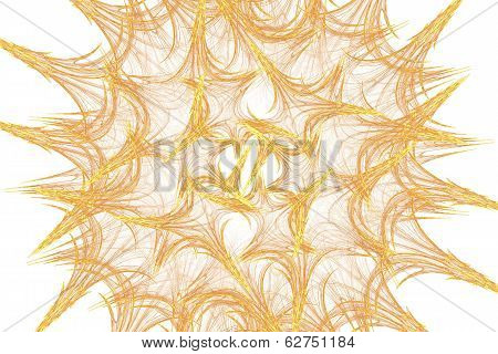 Chaotic fractal lines