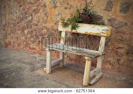 Empty Old Bench