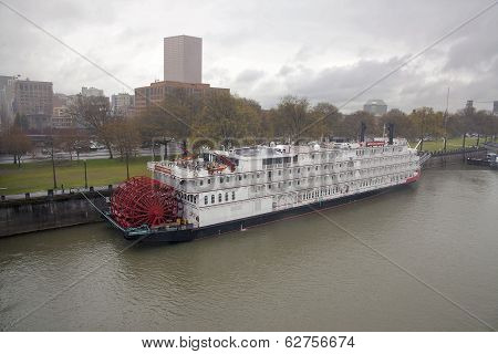 American Empress Riverboat With Portland Skyline