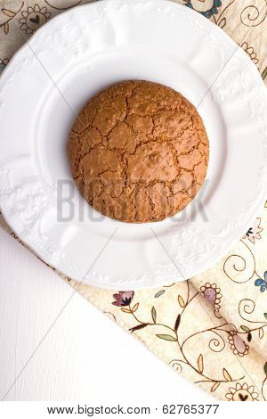 Almond Cookie On A Plate