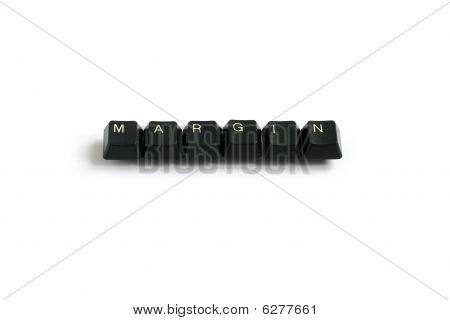 Margin Written With Keyboard Keys