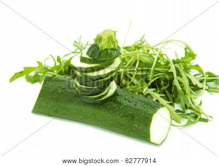 Tower Of Sliced Zucchini