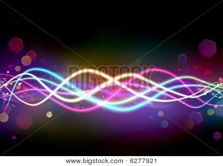 Abstract Background With Multi-coloured Lines