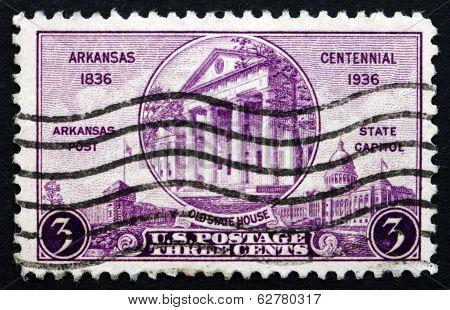 Postage Stamp Usa 1936 Centennial Of Arkansas Statehood