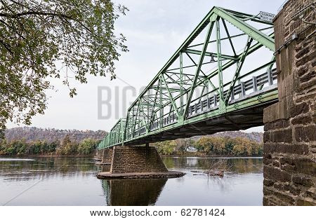 Uhlerstown-frenchtown Bridge Over The Delaware River Connecting New Jersey And Pennsylvania