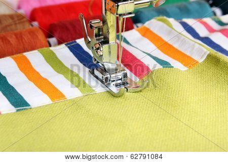 Sewing Machine And Item Of Clothing Material