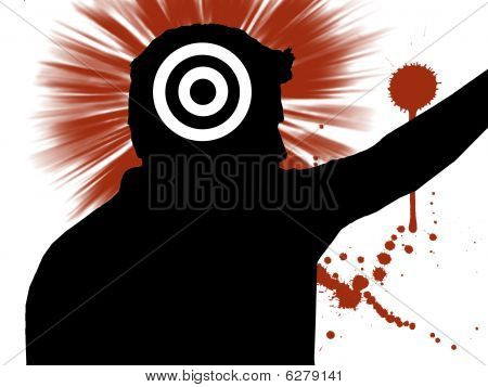 Man With Target On Head