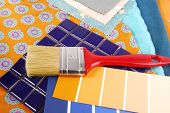 close up of the color design selection for interior poster