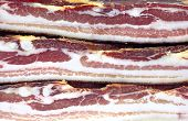 The three Dried Pork Bacon Stacked as texture poster