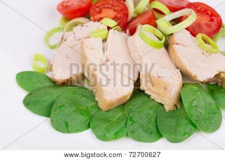 Close up of chicken salad.