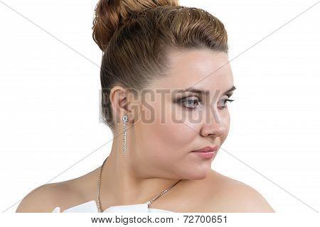 Portrait of bride lookin away