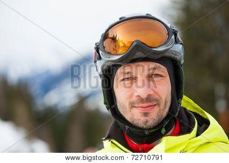Portrait of male skier