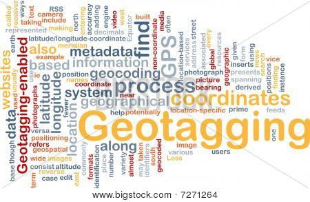 Geotagging Coordinates Background Concept