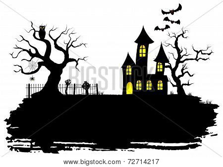 Haunted House At Halloween
