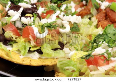 Delicious mexican tostadas perfect appetizer meal or delicious snack poster