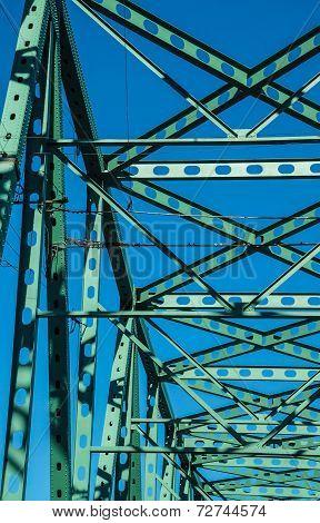 Joists And Members Of  Steel Bridge