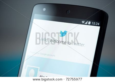 Twitter Login Page On Google Nexus 5
