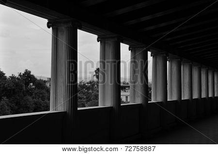 Ionic Columns Stoa Attalos
