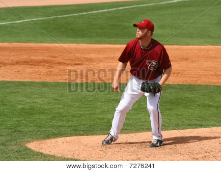 Pitcher Blaine Boyer in an Arizona Diamondbacks game