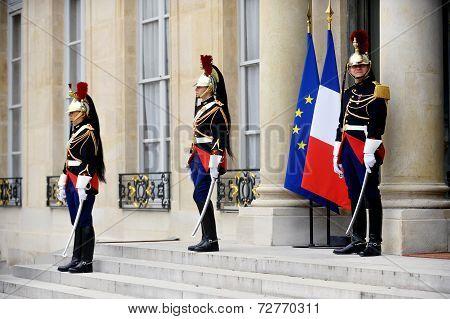 Elysee Palace Republican Guard