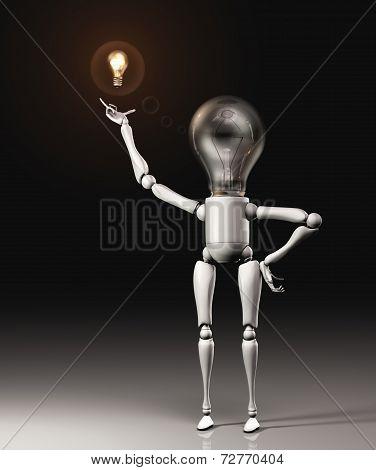 Lamp Character Got An Idea
