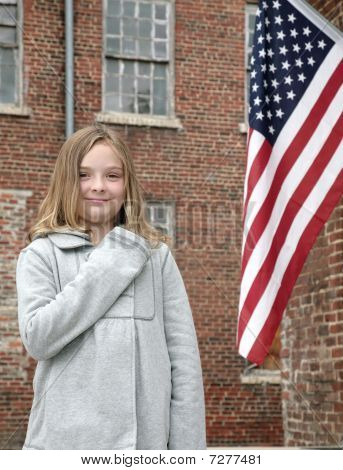 Child And Flag