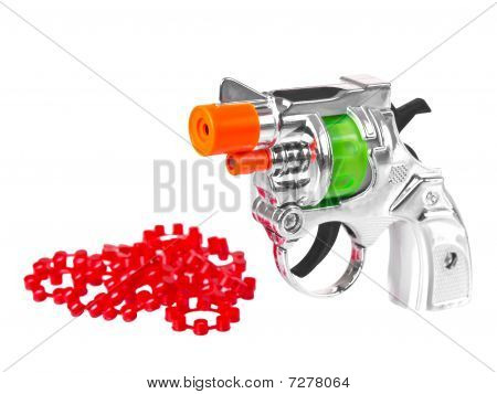 Mini Toy Gun With Powder