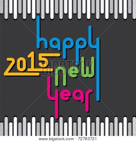 happy new year 2015 greeting background