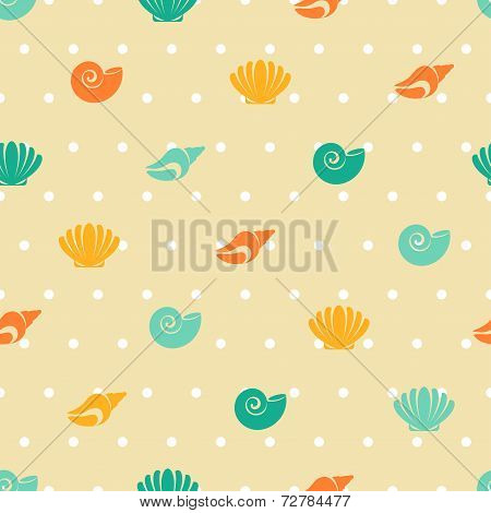 Seamless patterns of marine symbols.