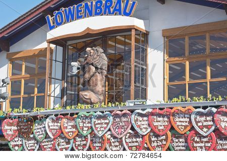 Lowenbrau Tent And Gingerbread Hearts
