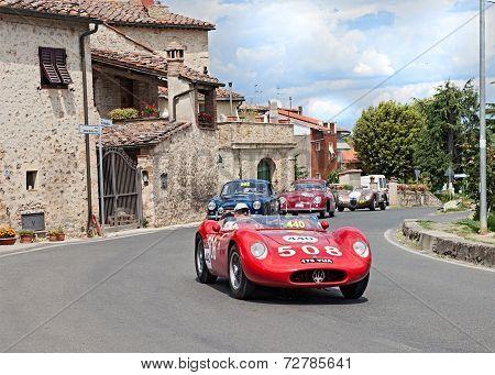 Maserati 200 Si 1957  Runs In Mille Miglia 2014