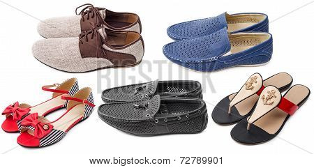 Collection Of Various Types Shoes