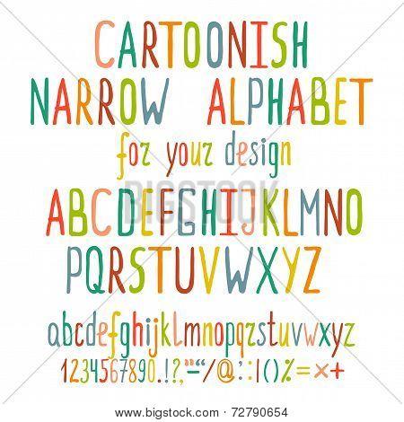 Hand Drawn Cartoon Alphabet Letters